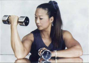 Cathie Wong lifting weights